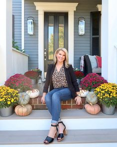 It's officially fall on the front porch! 🍁 It's been a while since I introduced myself here, so I thought I'd share a little about my…