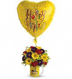 Teleflora's Hooray for Birthday - by Oakbrook Florist & The Gift Garden  http://www.oakbrookfloristca.com/thousand-oaks-flowers/telefloras-hooray-for-birthday-372724p.asp?rcid=84&point=1