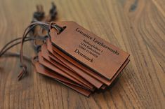 Custom leather labels bulk order 10 pieces by LemaitreLeatherworks