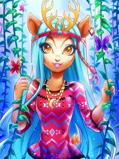 Isi Dawndancer by goldengrimoire3 <3 Monster High Fan Art