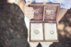 Rustic wedding DIY - ring bearer boxes. So cute!!