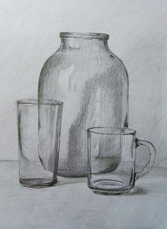 # still life # drawing # drawing - Zeichnung 3d Art Drawing, Pencil Sketch Drawing, Object Drawing, Pencil Art Drawings, Cool Art Drawings, Art Drawings Sketches, Drawing Tips, Still Life Sketch, Still Life Drawing