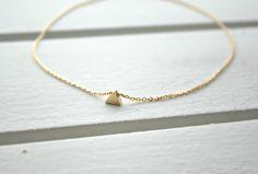 Vergoldete Ketten - *dreieck* vergoldete Halskette - ein Designerstück von MintDesign bei DaWanda