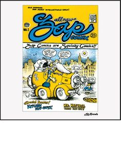 Zap Comix No. 1 was sold out of a baby carriage on the corner of Haight and Ashbury streets in San Francisco. Wear the cover that birthed the legend.  A Keep On Truckin' Apparel exclusive T-shirt design.