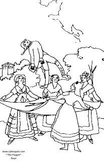 ESOS LOCOS BAJITOS DE INFANTIL: CUADROS DE GOYA PARA COLOREAR Colouring Pages, Printable Coloring Pages, Printable Art, Coloring Books, Francisco Goya Paintings, Arte Elemental, Colorful Drawings, Art Plastique, Coloring For Kids