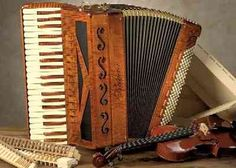 This is a 'piano accordion, there is also a button accordion which is quite complicated. Love these 'windy squeeze boxes'&the memories they invoke!