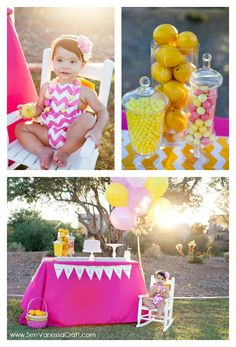 Pink Lemonade First Birthday Party Idea