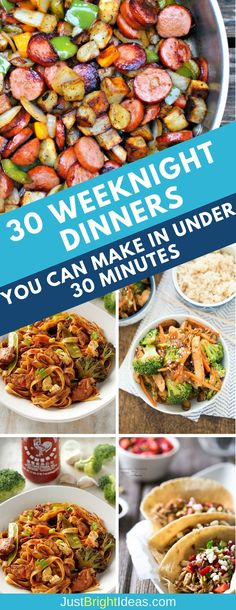 Best 30 Minute Dinner Recipes - Deliciously simple midweek meals the whole family will love. Prepped and on the table in 30 minutes or less!