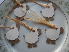 Set of 25 Baby Sheep Gift Tags Naturally by vintagehillcreations