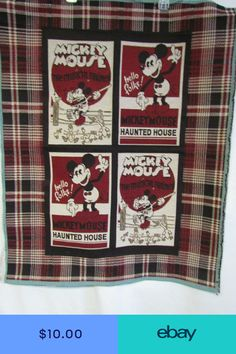 b6a70903ff5 Walt Disney Vintage Mickey Mouse Haunted House Tapestry Wall Hanging Panel.  Vintage Mickey MouseTapestry Wall HangingFarmerWalt DisneyFabric ...