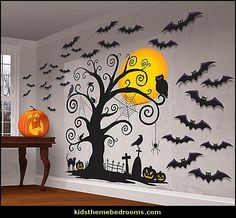 IDEAS & INSPIRATIONS: Family Friendly Halloween Wall Scene Set - Halloween Decorating Ideas