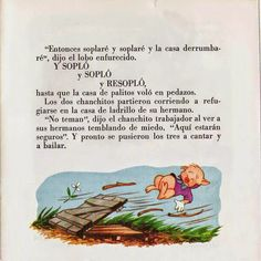 Cuentos infantiles: Los tres cerditos. Cuento ilustrado. Frases, Books, Reading Books, Infant Learning Activities