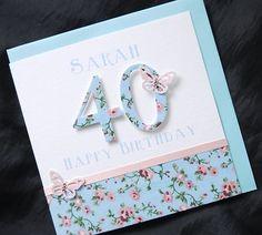 pretty shabby chic birthday card