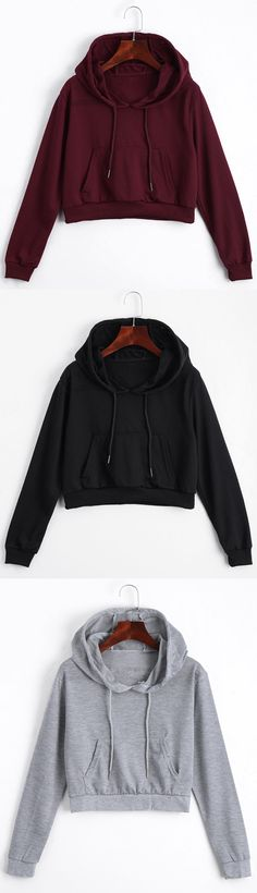 Up to 80% OFF! Front Pocket Drawstring Crop Hoodie - DEEP RED S. Zaful,zaful.com,zaful fashion,tops,womens tops,outerwear,sweatshirts,hoodies,hoodies outfit,hoodies for teens,sweatshirts outfit,long sleeve tops,sweatshirts for teens,winter outfits,fall outfits,tops,sweatshirts for women,women's hoodies,womens sweatshirts,crop top hoodie,cute sweatshirts,floral hoodie,crop hoodies,designer hoodies,oversized sweatshirt @zaful Extra 10% OFF Code:ZF2017