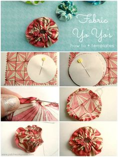 How to Make a Fabric Yo Yo #printable #tutorial | patchwork posse