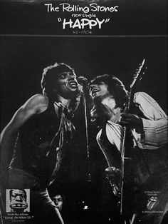 """The Rolling Stones' new single ~ """"Happy"""" ~ from the album, Exile on Main St.(1972)"""