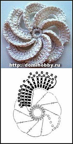 bomboniere uncinetto fiori schemi - Cerca con Google