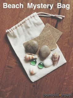 Beach Mystery Bag | sensory activity for preschoolers | Bambini Travel