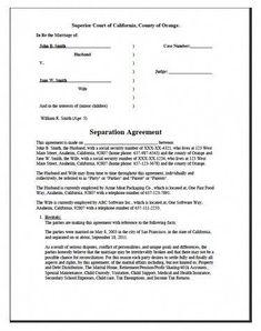Printable Sample Divorce Papers Form | Divorce papers ...
