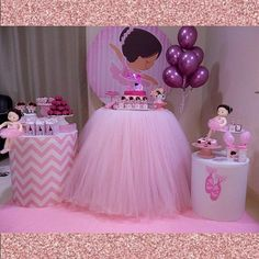 Girl Birthday Decorations, Girl Birthday Themes, Balloon Decorations Party, Baby Birthday, Ballerina Birthday Parties, Ballerina Party, Princess Birthday, First Birthday Parties, Anniversaire Candy Land