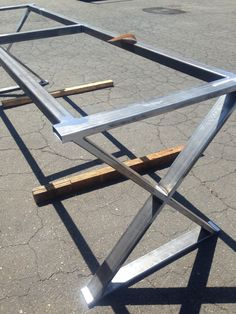 A Frame Metal Table Legs SET OF Adjustable Leveling Feet - Outdoor table legs and bases