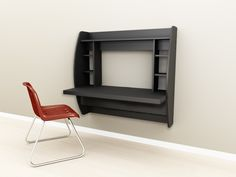 Floating Desk with Storage, by Prepac Manufacturing