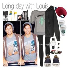 """Day with Lou"" by fakeverahoran ❤ liked on Polyvore"
