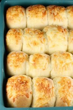White Cheddar Potato Rolls ~ large batch recipe perfect for holiday dinners