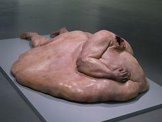 """John Isaacs' """"Fat Man - The Matrix of Amnesia"""" Macabre Art, Fat Man, Hyperrealism, Contemporary Sculpture, Human Art, Seven Deadly Sins, Land Art, Art Plastique, Sculpture Art"""