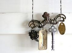 """""""On/Off"""" junk jewelry necklace"""