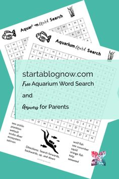 It's a unique time in our history. As I've struggled to help my children adapt to home learning, I've had to create fun kids' printables to help. Free Word Search, Kids Word Search, Our Kids, My Children, Kids Aquarium, Home Learning, How To Start A Blog, Elementary Schools, Free Printables
