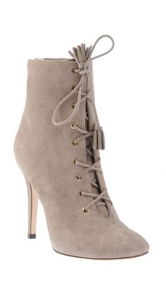 Grey lace up boots