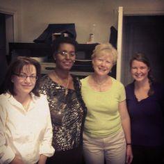 L to R: Suzanne, Euphemie (Mothers' Union in Burundi), Aimee and McKenzie.