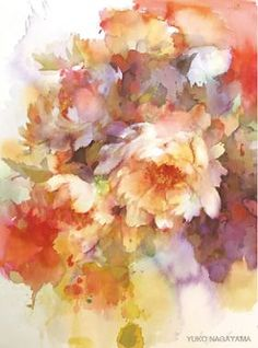 Wyn Vogel `Cross Media Artist: Painting by Yuko Nagayama Arte Floral, Watercolor Flowers, Watercolor Paintings, Watercolors, Illustration Art, Illustrations, Painting & Drawing, Artist Painting, Painting Inspiration