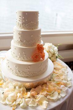 Wedding cake: http://www.stylemepretty.com/florida-weddings/key-biscayne/2013/09/30/key-biscayne-wedding-at-the-rusty-pelican-from-elaine-palladino-photography/   Photography: Elaine Palladino - http://www.elainepalladino.com/