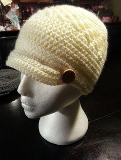 7f1d2fd954e Crochet Brim Hat Beanie Cap Custom Colors by PerfectlyImperfect4U