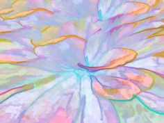 Soft Pastel Painted Petals Abstract Art Print