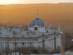 Vistas al atardecer de Madrid desde la azotea del Corte Inglés de Callao