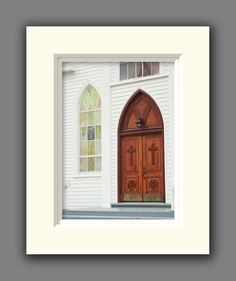 Church Door Matted Photo Religious by JulieMagersSoulen on Etsy,