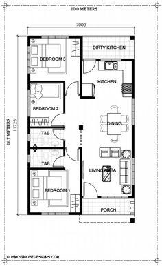 19 Simple House Floor Design Simple House Floor Design - Ruben model is a simple 3 bedroom bungalow house design with modern house plan layout Simple Home Design Plan with Single Storey House Plans, Square House Plans, One Storey House, House Floor Design, Home Design Floor Plans, Simple House Design, Plan Design, Design Ideas, Layout Design