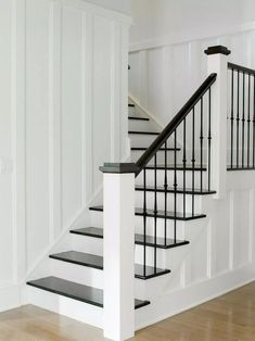 Westport Farmhouse for the Modern Traditionalist traditional staircase Modern Staircase FARMHOUSE modern Staircase traditional Traditionalist Westport Painted Staircases, Staircase Railings, Staircase Ideas, Banisters, Stairways, Iron Staircase, Metal Spindles, White Staircase, Staircase With Landing