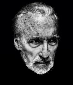 Sir Christopher Lee - RIP. Portrait by Nadav Kander