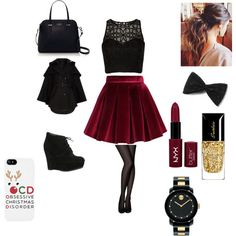 Outfit #2- Christmas party by bugaboo162014 on Polyvore featuring polyvore, fashion, style, Nicholas, Comptoir Des Cotonniers, Chicwish, ALDO, Kate Spade, Movado and Guerlain