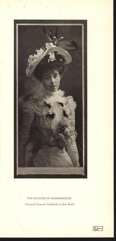 Consuelo Vanderbilt | Duchess of Marlborough Portrait circa 1906. Burr McIntosh Monthly. vol.XI, no.42 (September 1906)