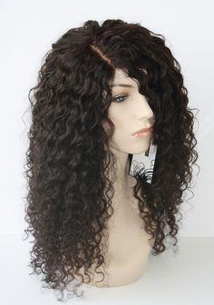 Mannequin wearing Brazilian Deep Wave Lace Wig side