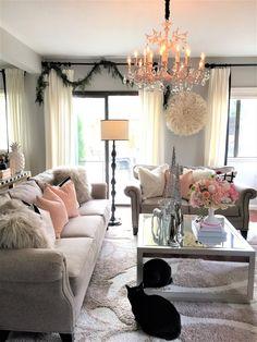 Blush and grey living room Home decor
