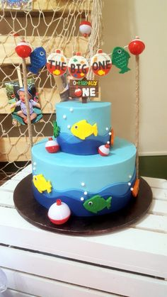 Boys First Birthday Party Ideas, Baby Boy 1st Birthday, First Birthday Cakes, Boy Birthday Parties, Birthday Party Decorations, Usa Fishing, Spear Fishing, Marlin Fishing, Fishing Pliers