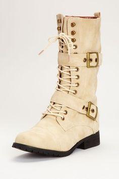 Bucco Buckle Strap Combat Boot