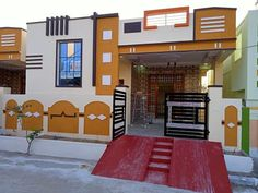 House Front Wall Design, Single Floor House Design, House Outside Design, Village House Design, House Gate Design, Main Door Design, Small House Design, Cool House Designs, Simple House Plans