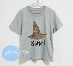 Sorted hat witch Harry Potter tshirts Short sleeve tee